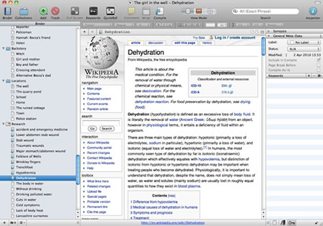 Research in Scrivener