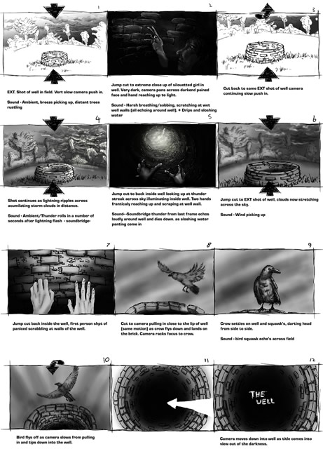 The original storyboard for the trailer