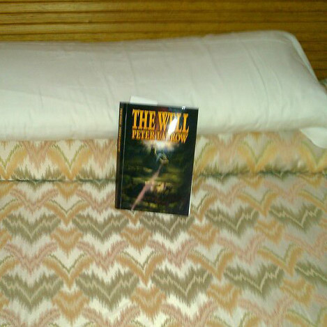 The Well picks its bed in the hotel room.