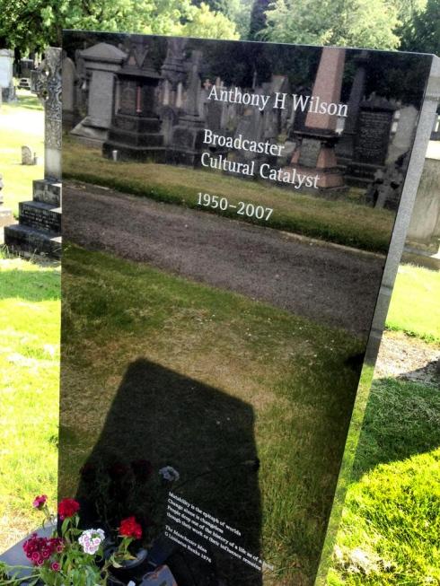 Tony Wilson's grave